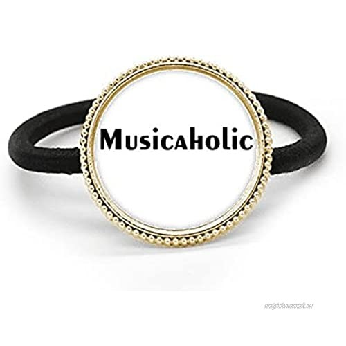 Stylish Word Musicaholic Art Deco Gift Fashion Silver Metal Hair Tie And Rubber Band Headdress