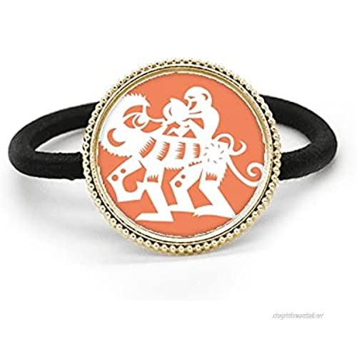 Year Of Monkey Animal China Zodiac Silver Metal Hair Tie And Rubber Band Headdress