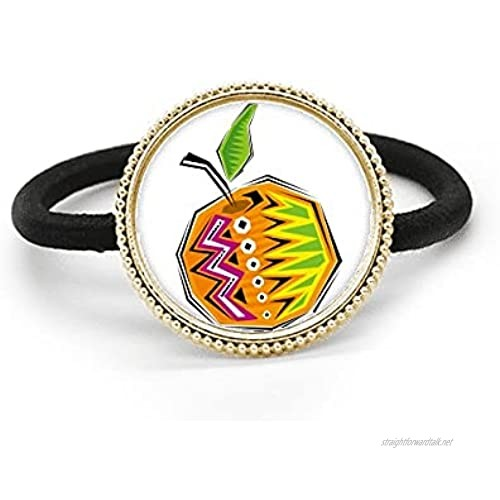 Yellow Food Mexicon Culture Element Illustration Silver Metal Hair Tie And Rubber Band Headdress