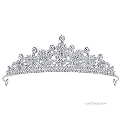 Gespout Classic Rhinestone Bridal Headwear Elegant Wedding Prom Party Headdresses Tiara Jewelry Hair Pins for Bride Bridesmaid