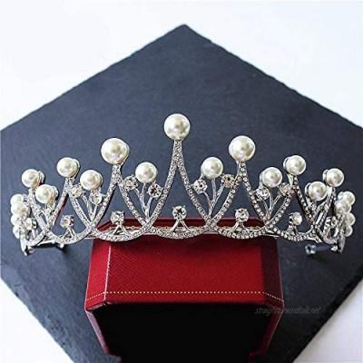 OKMIJN Bridal Crown Wedding Crystal Tiara Prom Pageant Rhinestone Headband Tiara Hair Accessory
