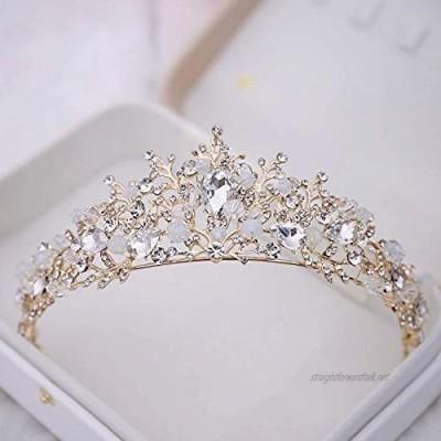 OKMIJN Bridal Crowns Handmade Tiara Diadem Tiara Bridal Wedding Crystal Bride Wedding Hair Accessories Crown