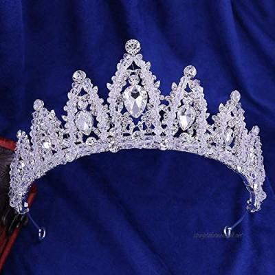 OKMIJN Bridal Women Rhinestone Hair Crown Headband Wedding Accessories Headband For Party