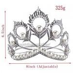 OKMIJN Bride Hair Accessory Wedding Bridal Tiaras For Women Rhinestone Pageant Crown Head Jewelry Hair Ornament