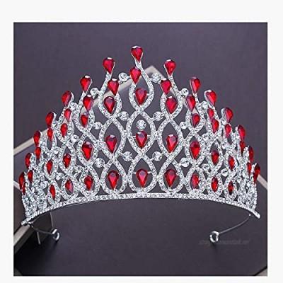 OKMIJN New Silver Color Crystal Crown For Wedding Bride Tiara Big Crown Rhinestone Bridal Crown For Wedding Hair Accessories