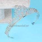 OKMIJN Trendy Crystal Rhinestone Tiara Crowns For Wedding Head Jewelry Bridal Hair Accessories Handmade Hairwear Headdress