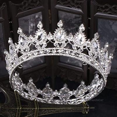 OKMIJN Vintage Crystal Tiara Wedding Accessories Bridal Crown Bridal Rhinestone Tiara Crowns