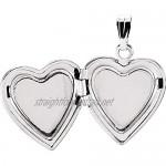 925 Sterling Silver .01 CTW Diamond Heart Locket for Women