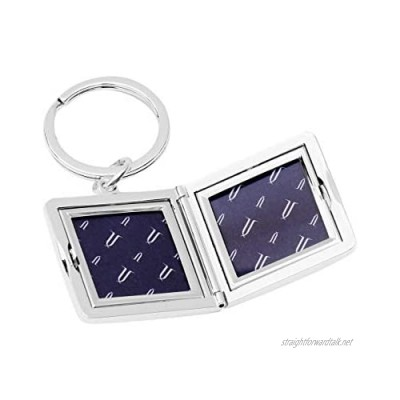 Brillibrum Design Locket with Engraving Silver for Opening 2 Photos Photo Key Ring Frame Square Amulet Jewellery Hinged Opening Friendship