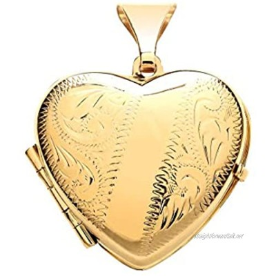 Genuine 9ct Yellow Gold Engraved Heart Family Locket Brand New