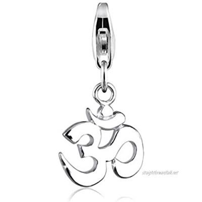 Elli Women's 925 Sterling Silver Xilion Cut Om Charm Pendant