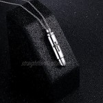 925 Sterling Silver Simple Bar Urn Pendant Memorial - Ashes Keepsake Exquisite Cremation Pendant Necklace