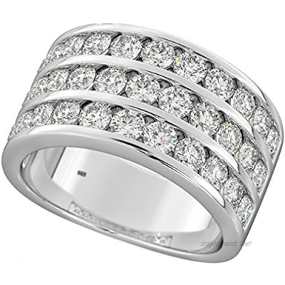 Mens Ring - 925 Sterling Silver Mens Cubic Zirconia Wedding Engagement Ring -10mm