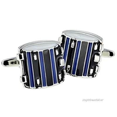 GTR-Prestige Giftware Blue & Black Drums Cufflinks Presented in a Cufflink Box X2AJ464