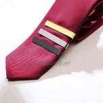 DYXYH Simple Men Tie Clips for Wedding Anniversary Stainless Steel Metal Regular Tie Bar Jewelry (Color : B)