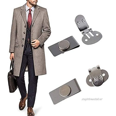 Invisible Magnetic Tie Stay Men's Suit Jacket Stainless Steel Automatically Fixed Magnetic Tie Stays for Men Gifts Father's Day (2set)