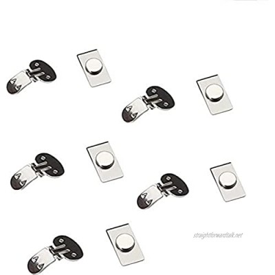 Swhcvj 5PCS Men Invisible Tie Clips Automatically Fixed Stainless Steel Metal Shirt Tie Clips Invisible Magnetic Tie Clip Men Gifts Valentine's Day Father's Day