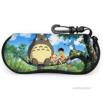 Anime My Neighbor to-t-oro Glasses Case Waterproof with Carabiner for Safety Glasses with Zipper Portable Sunglasses Soft Ca.