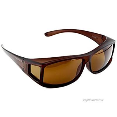 ACTIVE SOL Men's Fit-Over Sunglasses   UV400 Fit-Over Sunglasses   Polarised   Fit-Over Polarised Glasses for Prescription Glasses Wearers