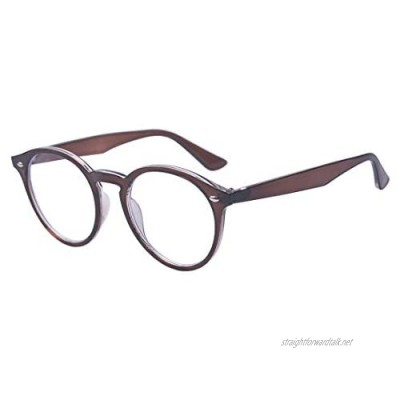 Outray Classic Round Clear Lens Glasses Eyeglasses Frame for Men and Women