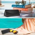 MoKo Foldable Glasses Sunglasses Case PU Portable Eyeglass Case for Men Women