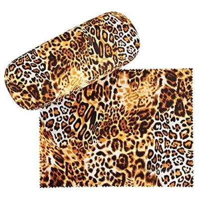 VON LILIENFELD Glasses Case Leopard Animal Print Cleaning Cloth Spectacle Cases Lightweight Stable Present Leo