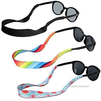 Hifot Sunglasses Holder Strap 3 Style Adjustable Floating Eyewear Retainer Quick Dry Neoprene Eyeglasses Strap Retainer