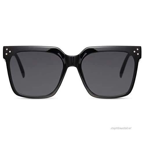Cheapass Sunglasses Womens' Designer Style with Corner Studs in Various Colour Combinations