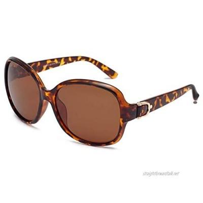 EFE Oversized Polarised Sunglasses - Womens Big Frame Fashion Sun Glasses Retro Designer Style Ladies Shades