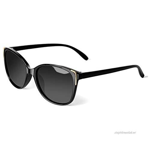 Face Shadow Cat Eye Sunglasses for Women Polarized Fashion Metal Decoration Ultralight UV400 Protection