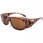 Opticaid Over Glasses Fit Over Sunglasses Polarised Anti Glare UV400 Wrap Around Womens Amelia Taupe Category 3 Lens Remaldi