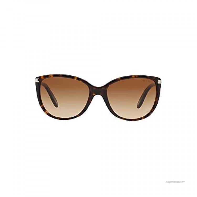 Ralph by Ralph Lauren Women's 0RA51600/13 Sunglasses Dark Tortoise/Brown Gradient 57