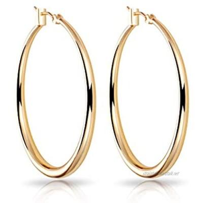 Gold 40mm Hoop Earrings