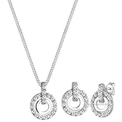 Elli Women's Silver Xilion Cut Jewellery Set - 45cm length